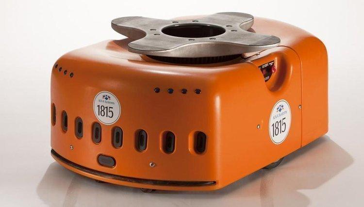 A Kiva Systems warehouse robot.