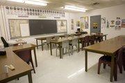 A facility classroom.