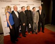 Left to right,  Laura Heatherly, Tom Cigarran, Dr. C. Wright Pinson, Kris Kristofferson, Joe Galante and Colin Reed.