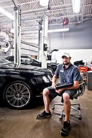 Adam Long is the head mechanic of the Maserati Rolls-Royce Bentley of Nashville dealership in Franklin.