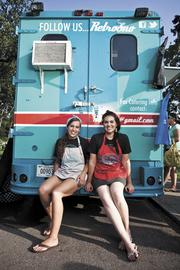 Morgan Williamson and Elizabeth Nunnally, right, were friends before they combined efforts to own and operate the Retro Sno food truck.