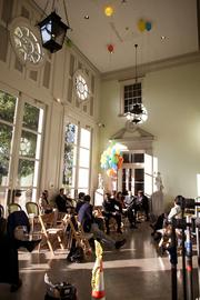 """A staging area inside Cheekwood for filming on """"Nashville."""""""