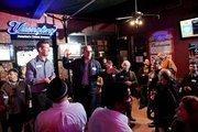 Dave Delaney shares the floor with Floyd DePalma of DePalma studios, the November sponsor of Nashcocktail.