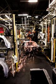 The vehicle assembly plant produces about half a million