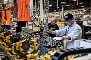 Workers on the line at GM's Spring Hill plant.