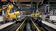 Robotic assembly is a part of the production line at General Motors' Spring Hill plant.