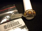 """An 1 8kt. yellow gold jaguar-style ring. The piece is stamped """"David B."""" Retail value: $6,800. Wholesale appraisal: $2,300."""
