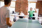 9. Give room to relax. Set up a recreation room where employees can de-stress and have some fun. You may want to include a TV, pool table or an air hockey game.