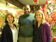 Rebel Hill Florist's Anna Page, from left, Michael Giles and Heather Corum Powell of Ronald McDonald House.