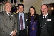 Judge Randall Wyatt, left to right, Ben Russ, Marissa Russ, and Scott Derrick.