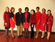 The first-ever Go Red For Women African-American Leadership Brunch was held Feb. 16 at Meharry Medical College's new Alumni Hall in Nashville. About 140 female African-American community leaders from Middle Tennessee gathered to hear about the risks of heart disease among black women — which are higher in some ways than that of the general population — and how they can fight back. Speakers included experts from Vanderbilt, Meharry Medical College and Boston Scientific.  Pictured:Erin Link, from left, Dr. Vanessa Jones Briscoe, Dr. Henry Okafor, Dr. Ifeoluwa Okusanya , Deborah Pitts , Brenda Corbin, Dr. Janet Southerland, Veronica Marable Johnson