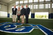 """Battle Ground Academy honored the three generations of the Jewell family, who are longtime BGA supporters, by naming its new Athletic & Wellness Center in their honor.                  From left, are Fielding """"Dickey"""" Jewell, Betsy Jewell Adgent, James Jewell Sr. and John Jewell III of Tri Star Energy."""