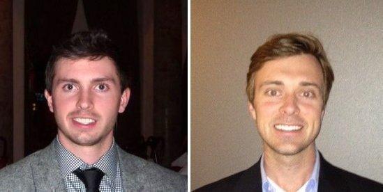 Listen Up co-founders Ben Fruin, left, andMykas Degesys.