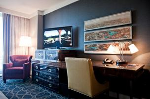 Inside one of Omni Nashville Hotel's 800 rooms.