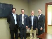 From left, Gordon Moffat and Hans Schmidt, both of Baker Donelson, Marc Jenkins of Hubbard & Jenkins, and Russell Taber of Riley Warnock & Jacobson attended the inaugural meeting of the Prometheus Project.
