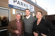 Bob Parks Agents Jack Miller, Bud George and Dawne Davis attended the grand opening of the PARKS office in the Gulch.