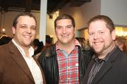 Nathan Weinberg, Bob Parks agent Kevin Pellatiro and Steve Mabee attended the grand opening for PARKs in the Gulch.
