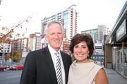 Bob Parks, owner of Bob Parks Realty, and his wife, Marie Parks, outside the new PARKS office in the Gulch. The new PARKS office is just steps from the condo developments in the Gulch.