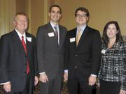 Kent Cleaver, from left, Aaron Dorn, Durham Pettigrew and April Britt, all from Avenue Bank.