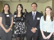 Members of the 59th class of the Young Leaders Council Rebecca Cooper with HCA, from left, Lindsey Blades with Genesco, Matthew Felgendreher with WC Dillon Co. and Kristin Hoevel with Infoworks