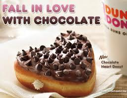 Dunkin' Donuts is selling heart-shaped donuts.