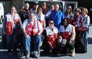 The Tennessee Volunteer Region of the American Red Cross deployed 40 relief workers and five Emergency Response Vehicles. Red Cross workers from the Tennessee Volunteer Region including chapters in Davidson, Madison, Montgomery, Rutherford, Shelby, Warren, and Williamson Counties are traveling to or are already working in various locations throughout the northeast. Pictured, back row from left: Jean Lyon, Jim Millar, Jeremy Birdwell, Leah Heyman, Mark Meghreblian, David Mayberry, Jack Rowe, Emily Bragg, Jan Schilling and Paula Tubb. Front row, from left: James Goodman, Kerri Foster and Toni Reynolds.