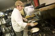 Chef Chris Mason in the Provence kitchen.