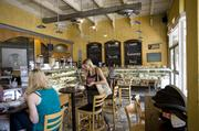 Inside Provence Breads and Cafe's Hillsboro Village dining room.