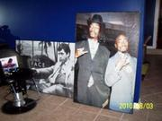 Art of Al Pacino, Snoop Dogg and Tupac.