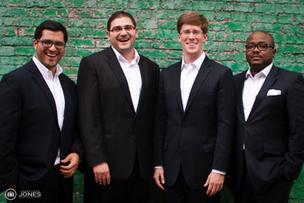 Contigo Financial team, from left to right: CEO Mario Avila,  Carlos Campos, Ian Cotton, Olu Falana
