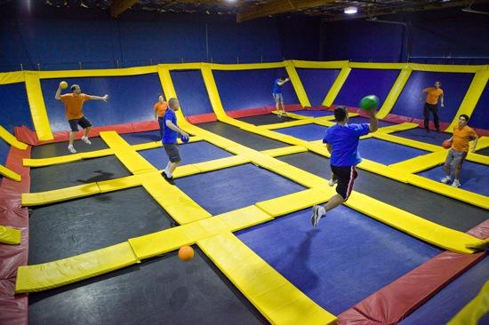 A trampoline park similar to this one operated by Sky High Sports of California is planned for New Berlin.
