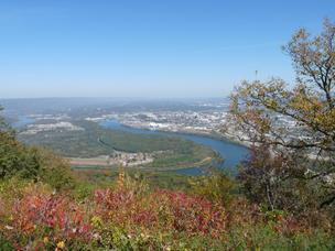 A view of Chattanooga from the top of Lookout Mountain.