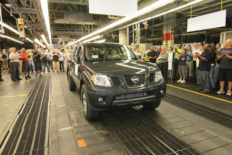 The last Nissan Frontier rolls off the line in Smyrna.