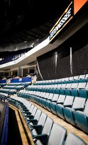 The current seats inside Bridgestone Arena that will eventually be a part of Club 501.