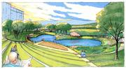 An artist's rendering of the park's 600-person amphitheater.