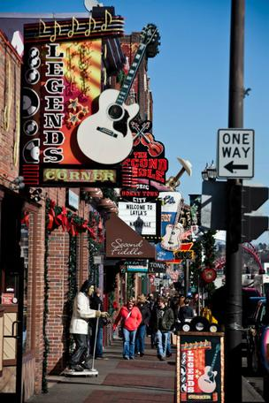 Downtown Nashville's Lower Broadway.