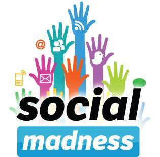 The three winning companies in the Social Madness social-media challenges are Target Corp., HardRock International and OneLouder Apps.