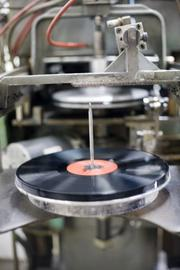 The record-pressing machines in operation.