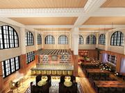 A rendering of renovations to Hotel Indigo.