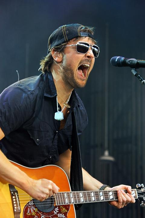 Eric Church is accusing a number of vendors of selling knock-off merchandise at his concerts.