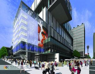 A rendering of the proposed Nashville Medical Trade Center. House of Blues is also interested in the site.