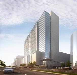 A rendering of the Omni Nashville.