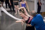 Ballet Master Tim Yeager works with dancer Alexandra Meister at the Nashville Ballet.
