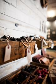 Items on display at Red Earth Trading Co., which recently opened a  pop-up shop in Hillsboro Village. The company sells handcrafted jewelry  and accessories and home goods from Africa.