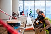 Crews are putting the finishing touches on the new convention center after breaking ground in 2010. The facility, including a three-level parking garage, totals 2.1 million square feet.