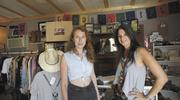 Tanya Montana Coe, left, and Kim Davison opened a vintage apparel store, Goodbuy Girls, in the collaborative.