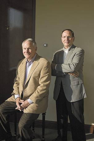 Joe Hutts, left, and Darrill Reeves of Breathe America.