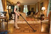 Janet Schmitt, quality manager at BrightHouse Luxury Green Home Cleaning, cleans a house in West Nashville.