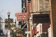 Broadway in downtown Nashville.