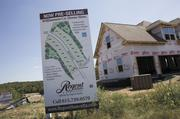 New home construction continues in the Burkitt Place subdivision in Williamson County.